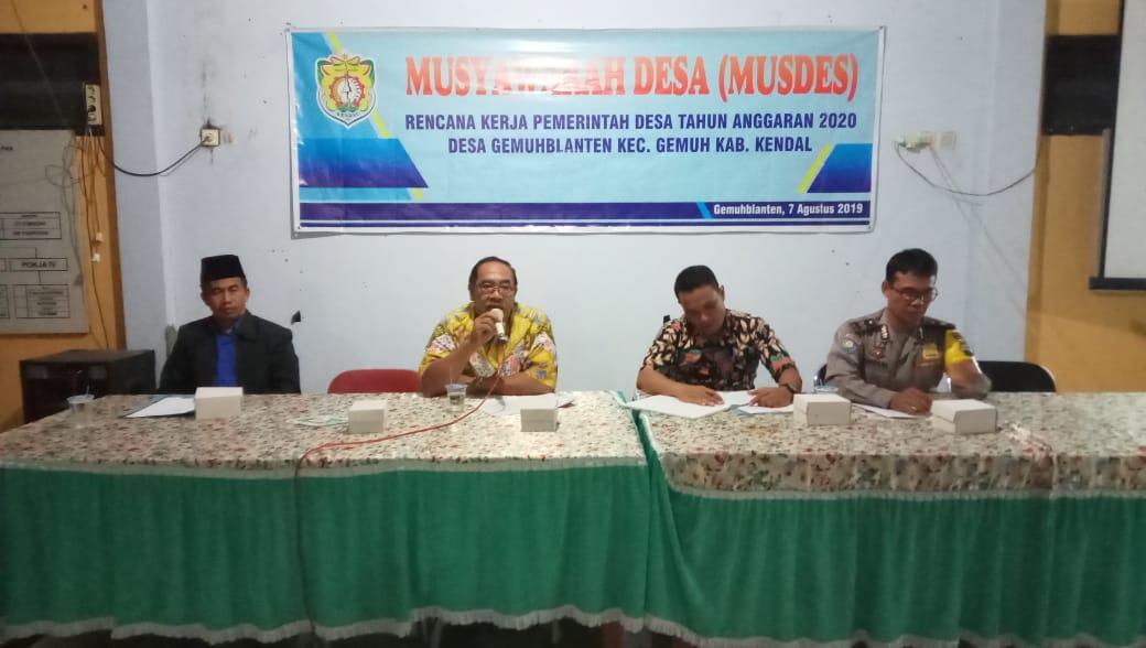 Musdes RKPDes Desa Gemuhblanten Wujud Partisipasi Masyarakat Dalam Pembangunan Desa